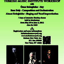 Annual Turkish Music Institute Workshop